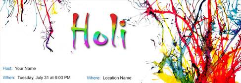 Free Holi Invitation With India S 1 Online Tool