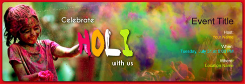 Free Holi invitation with India's #1 online tool
