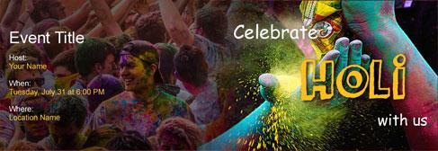 online Holi invitation