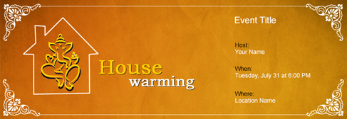 Free house warming invitation with indias 1 online tool online house warming invitation stopboris Choice Image