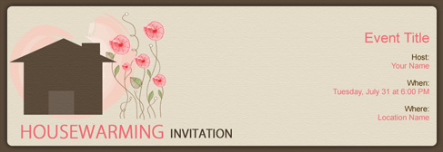 online House Warming invitation