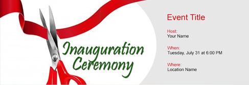 online Inauguration Ceremony invitation