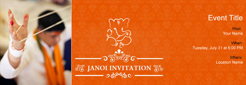 Free Janoi invitation with India's #1 online tool
