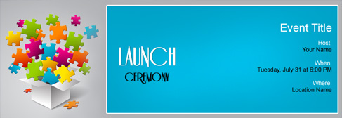 online Launch Ceremony invitation