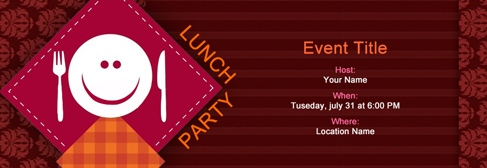 online Lunch Party invitation