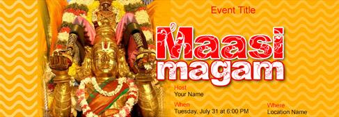 online Maasi Magam invitation