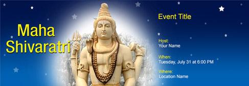 online Maha Shivaratri invitation