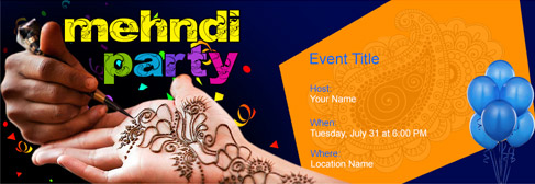 Free Mehndi Party Invitation With India S 1 Online Tool