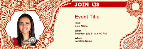 online Mehndi Party invitation