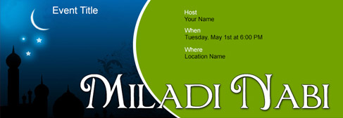 online Miladi Nabi invitation