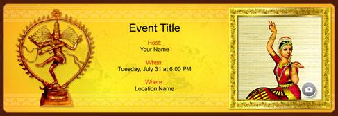 online Arangetram invitation