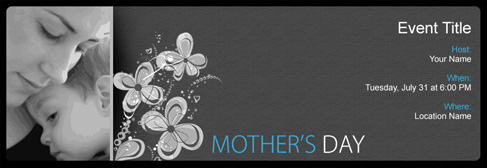 online Mother's Day invitation