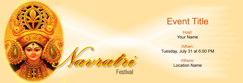 online Navratri Festival invitation