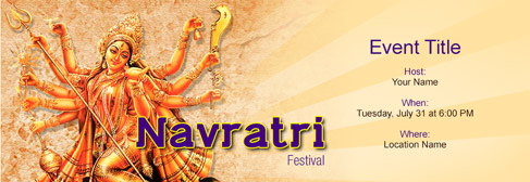 free navratri festival invitation with india s 1 online tool