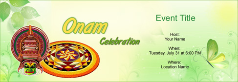 Free Onam Invitation With India S 1 Online Tool