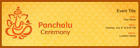 online Panchalu Ceremony invitation