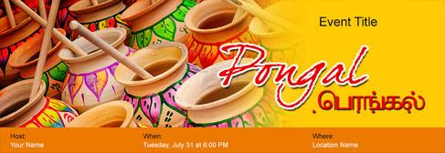online Pongal invitation
