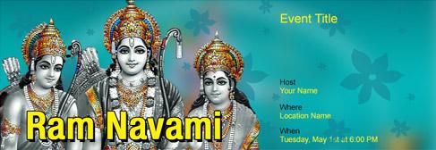 online Ram Navami invitation