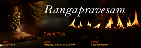 online Rangapravesam invitation