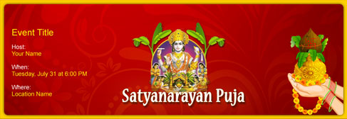 Free Satyanarayan Puja invitation with India's #1 online tool