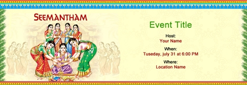 online Seemantham invitation