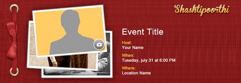 online Shashtipoorthi invitation