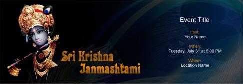 online Sri Krishna Janmashtami invitation