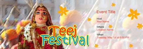online Teej Festival invitation