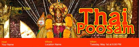 online Thai Poosam invitation