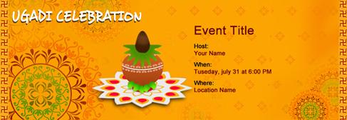 online Ugadi invitation