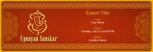 online Upnayan Sanskar invitation