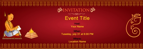 Free Upnayan Sanskar‏ invitation with India's #1 online tool