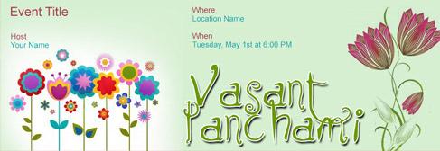 online Vasant Panchami invitation