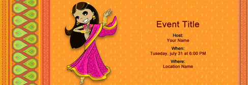 Free Voni Half Saree invitation with Indias 1 online tool