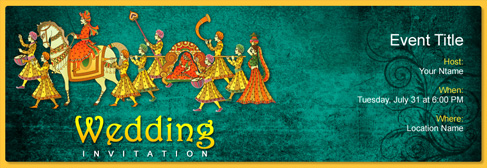 Free wedding invitation with indias 1 online tool for Online indian e wedding invitations