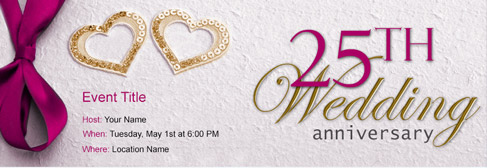 online Wedding Anniversary invitation