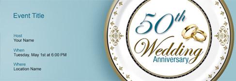 online Wedding Anniversary invitation