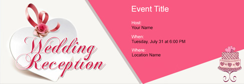 online Wedding Reception invitation