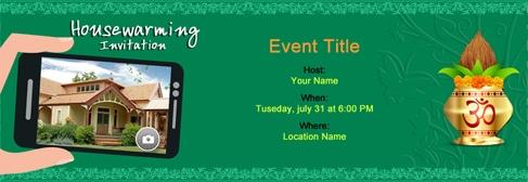 Online House Warming Invitation